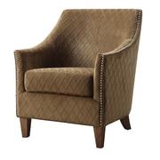 Emerald Home Furnishings Kismet Club Chair; Wembley Pecan