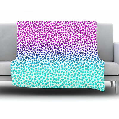 KESS InHouse Ombre Arrows by Sreetama Ray Fleece Throw Blanket; 60'' H x 50'' W x 1'' D WYF078277642692