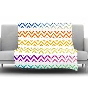 KESS InHouse Chevron Add by Sreetama Ray Fleece Throw Blanket; 60'' H x 50'' W x 1'' D