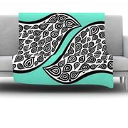 KESS InHouse Two Romantic Birds by Pom Graphic Design Fleece Throw Blanket; 60'' H x 50'' W x 1'' D