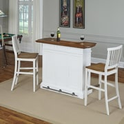 Home Styles Americana Home Bar Set; White