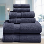 Elle Low Twist Weave 6 Piece Towel Set; White