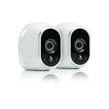 netgear arlo smart home indoor outdoor wireless high definition ip security cameras white black. Black Bedroom Furniture Sets. Home Design Ideas