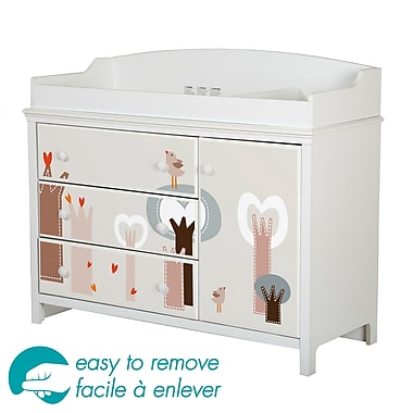 South Shore Cotton Candy Changing Table with Removable Top and Forest Decals, 48