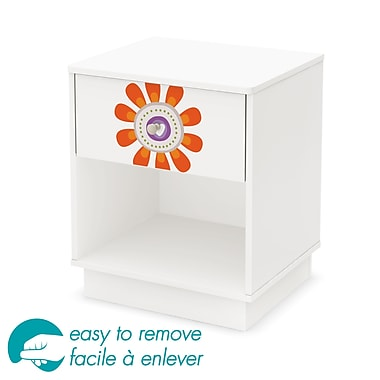 South Shore Joy 1-Drawer Night Stand with Flower Ottograff Decal, 19.5
