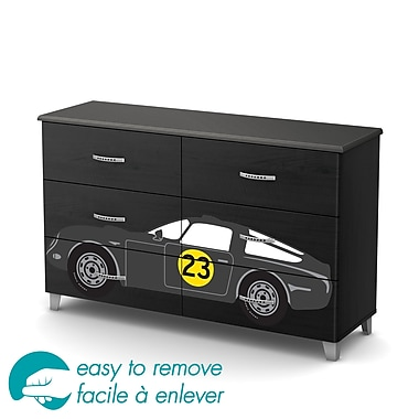 South Shore Luka 6-Drawer Dresser with Car Ottograff Decals, 53