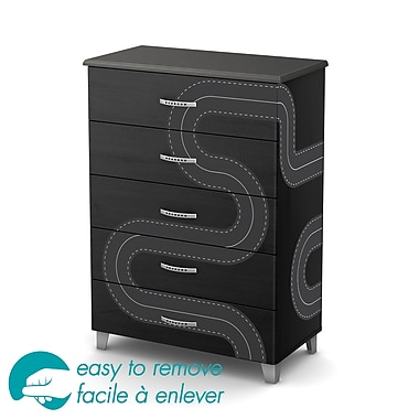 South Shore Luka 5-Drawer Chest with Race Track Ottograff Decals, 31