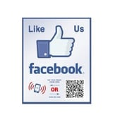 Shopping Wall LUOF003-1 QR Code Stickers, Like Us On Facebook, 2/Set
