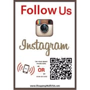 Shopping Wall FUOINST-2 QR Code Stickers, Follow Us On Instagram Social Media