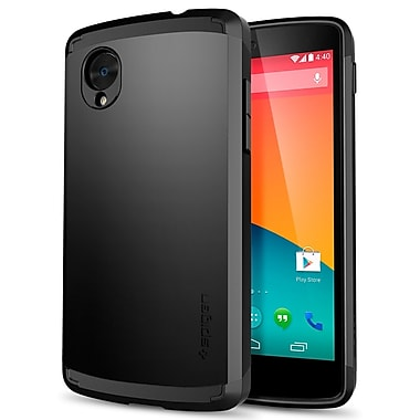 Spigen Slim Armor Case for Nexus 5, Smooth Black