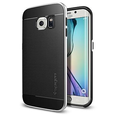 Spigen – Étuis Neon Hybrid pour Samsung Galaxy S6 Edge, satin argenté