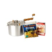 Wabash Valley Farms Whirley Pop Stovetop Popcorn Popper; Silver