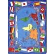 Joy Carpets Educational Flags of the World Area Rug; 5'4'' x 7'8''