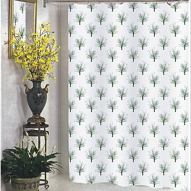 Carnation Home Fashions Faith Shower Curtain; Extra Long