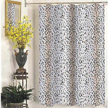 Carnation Home Fashions Hailey Shower Curtain; Extra Wide