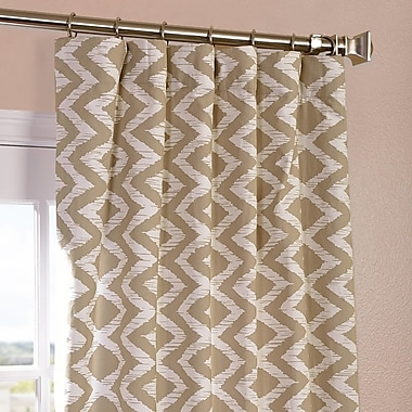 Half Price Drapes Palu Printed Cotton Semi-Opaque Single Curtain Panel; 50'' W x 120'' L