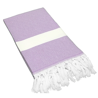 Linum Home Textiles Diamond Weave Pestemal Beach Towel