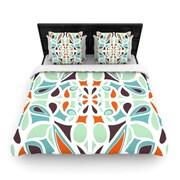 KESS InHouse ''Orange Purple Stained Glass'' Woven Comforter Duvet Cover; Full/Queen