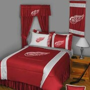Sports Coverage NHL Detroit Red Wings Drape Panels (Set of 2); 82'' L x 63'' W