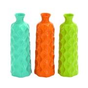Woodland Imports Ceramic Vase (Set of 3); 15'' H x 5'' W x 5'' D