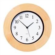 Peter Pepper Round Wall Clock in Beech Bezel; Beech