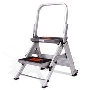 Little Giant Ladder 2-Step Aluminum Safety Step Stool with 300 lb. Load Capacity