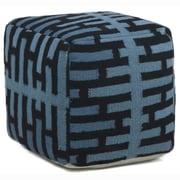 Chandra Textured Contemporary Pouf; Blue/Black