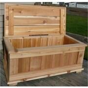 SmartCarts Premium Quality Indoor/Outdoor Cedar Storage Bench