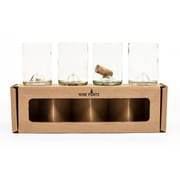 Wine Punts 12 oz. Wine Tumbler (Set of 4); Clear