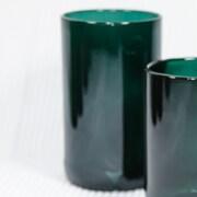 Wine Punts Flat Bottom Wine Glass (Set of 4); Teal