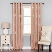 Best Home Fashion, Inc. Chandelier Print Grommet Top Blackout Curtain Panels (Set of 2); Pink