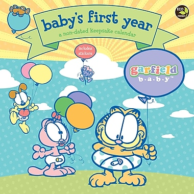 Baby's First Year Garfield NonDated Wall Calendar, 12