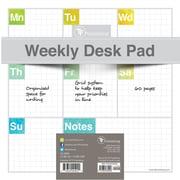 "TF Publishing Elements Weekly Desk Pad Calendar, 8.5"" x 8.5"""