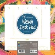 "TF Publishing Splatter Weekly Desk Pad Calendar, 8.5"" x 8.5"""