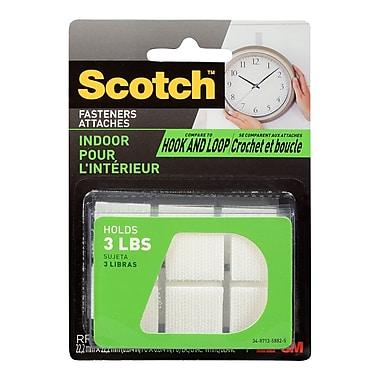 Scotch™ - Attaches carrées pour l'intérieur, ? po x ? po, blanc, paq./12