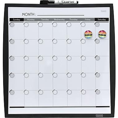 Quartet® Plastic Frame Dry Erase Calendar, Assorted, 14