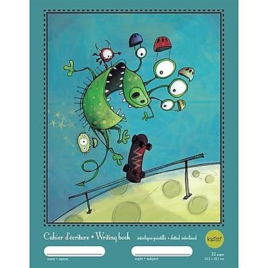 Ketto – Cahier d'écriture interligné-pointillé, 9 1/4 po x 7 1/4 po, 32 pages, couleurs variées, Monstres