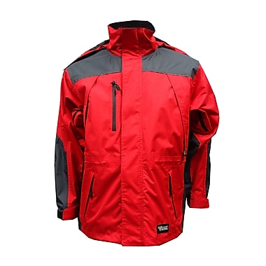 Viking Tempest Classic Jacket, Small, Charcoal/Red