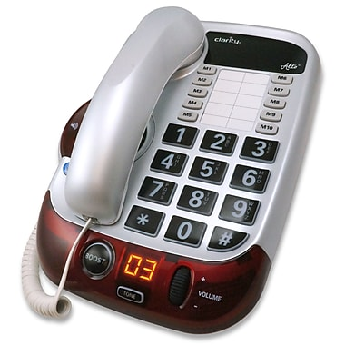 Clarity Alto Digital Corded Phone with Amplified Big Button Speakerphone