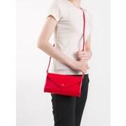 Paperthinks Scarlet Red Leather Mini Envelope Bag