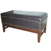 ORE Furniture Faux Leather Bedroom Bench