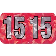 MAP Brand Holographic End-Tab Year Labels, 2015, Red
