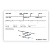 Medical Arts Press® Vet Cage Card; Check Off Boxes for a Variety of Services, 4x6""