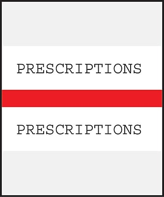 Medical Arts Press Standard Preprinted Chart Divider Tabs; Prescriptions Red