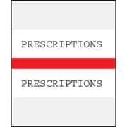 Medical Arts Press® Standard Preprinted Chart Divider Tabs; Prescriptions, Red