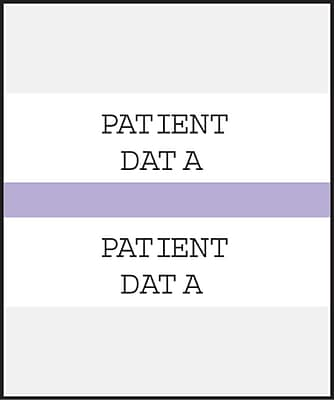 Medical Arts Press Standard Preprinted Chart Divider Tabs; Patient Data Lavender