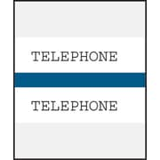 Medical Arts Press® Standard Preprinted Chart Divider Tabs; Telephone, Dark Blue
