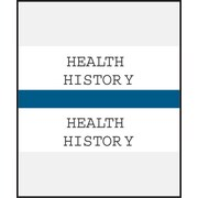 Medical Arts Press® Standard Preprinted Chart Divider Tabs; Health History, Dark Blue