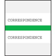 Medical Arts Press® Standard Preprinted Chart Divider Tabs; Correspondence, Green