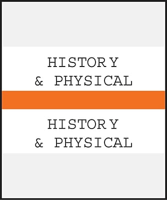 Medical Arts Press Standard Preprinted Chart Divider Tabs; History Physical Orange